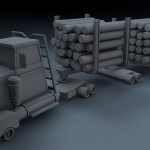 cartoon tømmer truck